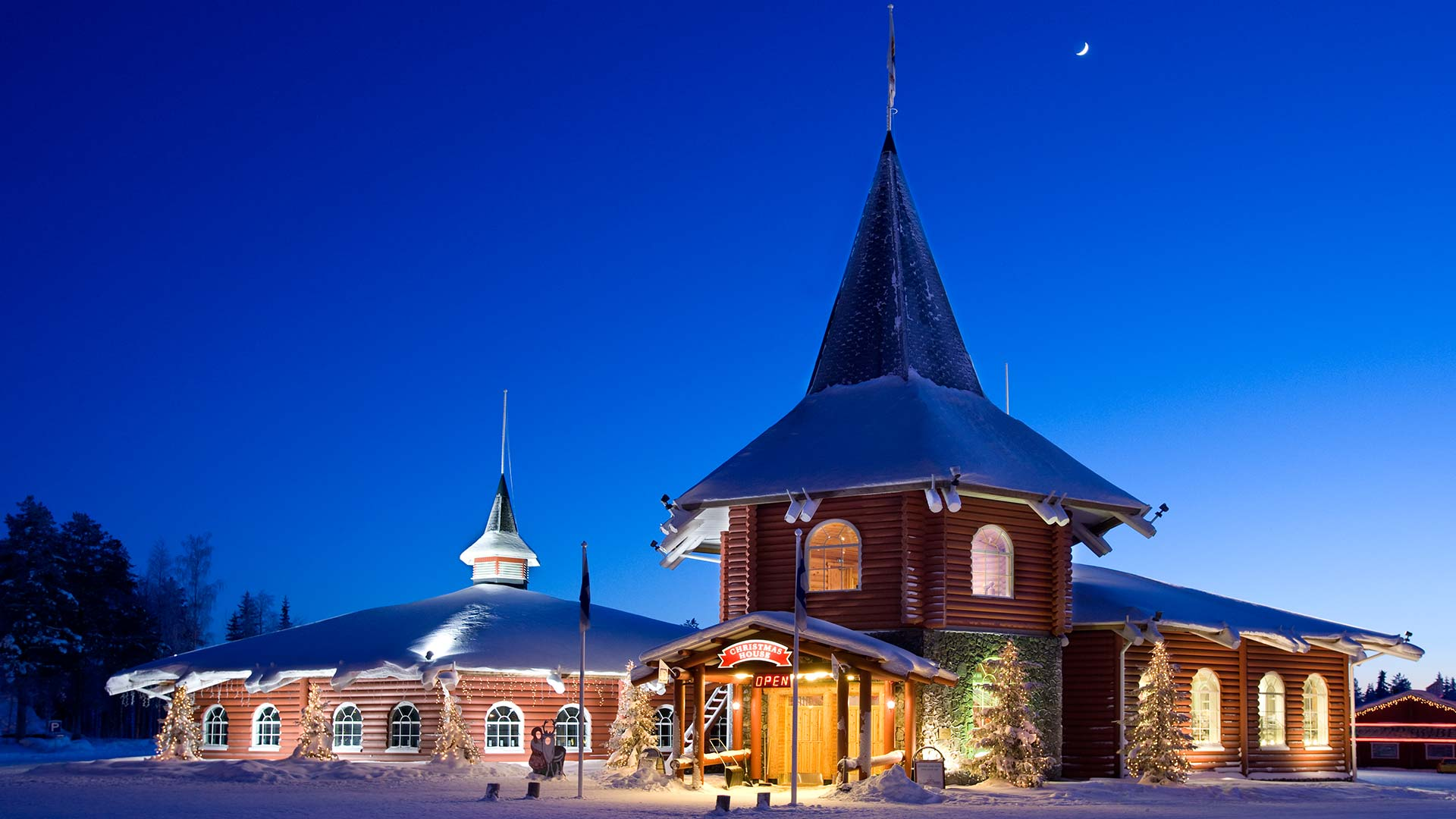 santa claus village in finnish lapland xmas in the north. Black Bedroom Furniture Sets. Home Design Ideas
