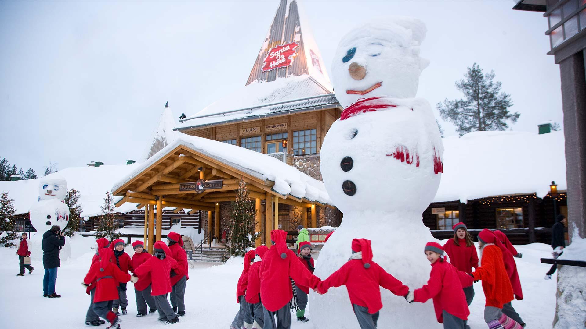 santa claus village in finnish lapland xmas in the north